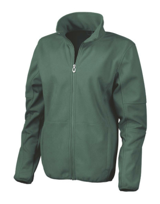 Damen Osaka Fleece Soft Shell Jacke / Result R131F / L Forest Green