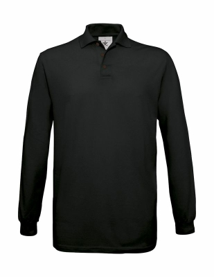 Herren Safran Poloshirt LS / BC Safran LS / L Black