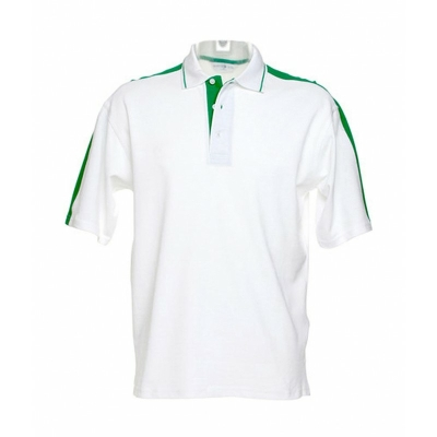 Herren Sporting Poloshirt / Kustom Kit KK616 XXL White/Irish Green