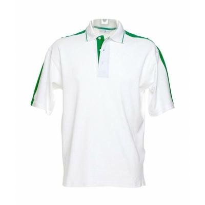 Herren Sporting Poloshirt / Kustom Kit KK616 XL White/Irish Green