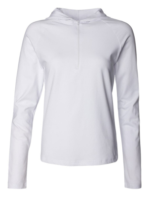 Half Zip Hooded Top / Bella 875 / XL White