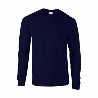 Herren Langarm T-Shirt / Gildan 2400 / M Navy