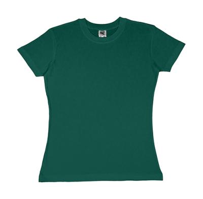 Damen Heavyweight T-Shirt / SG18F / S Bottle Green