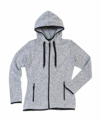 Active Strick Fleece Jacke Damen bis Gr.XL / Stedmann ST5950 S Light Grey Melange