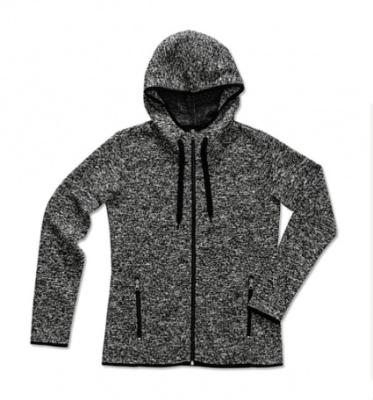 Active Strick Fleece Jacke Damen bis Gr.XL / Stedmann ST5950 S Dark Grey Melange