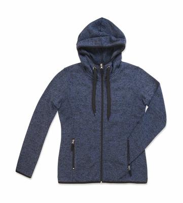 Active Strick Fleece Jacke Damen bis Gr.XL / Stedmann ST5950 M Marina Blue Melange