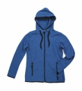 Active Strick Fleece Jacke Damen bis Gr.XL / Stedmann ST5950 M Blue Melange