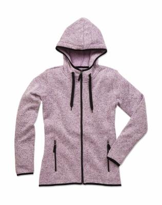 Active Strick Fleece Jacke Damen bis Gr.XL / Stedmann ST5950 M Purple Melange