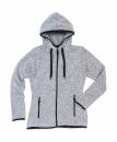Active Strick Fleece Jacke Damen bis Gr.XL / Stedmann ST5950 L Light Grey Melange