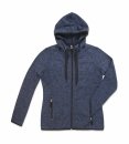Active Strick Fleece Jacke Damen bis Gr.XL / Stedmann ST5950 L Marina Blue Melange