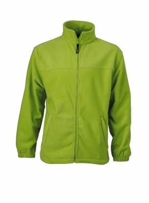 Fleece Jacke bis Gr.4XL / James & Nicholson JN044 S Lime Green