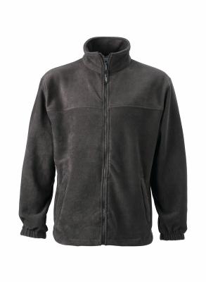 Fleece Jacke bis Gr.4XL / James & Nicholson JN044 S Dark Grey