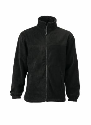 Fleece Jacke bis Gr.4XL / James & Nicholson JN044 S Black