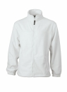 Fleece Jacke bis Gr.4XL / James & Nicholson JN044 S White
