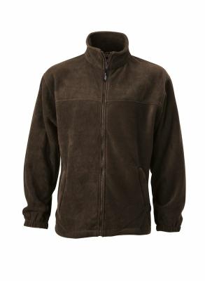 Fleece Jacke bis Gr.4XL / James & Nicholson JN044 M Brown