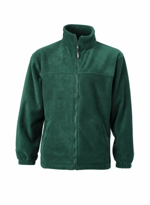Fleece Jacke bis Gr.4XL / James & Nicholson JN044 L Dark Green