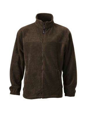 Fleece Jacke bis Gr.4XL / James & Nicholson JN044 L Brown
