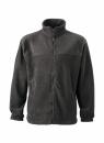 Fleece Jacke bis Gr.4XL / James & Nicholson JN044 L Dark Grey