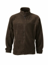 Fleece Jacke bis Gr.4XL / James & Nicholson JN044 XL Brown