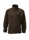 Fleece Jacke bis Gr.4XL / James & Nicholson JN044 4XL Brown