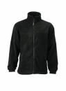 Fleece Jacke bis Gr.4XL / James & Nicholson JN044 4XL Black