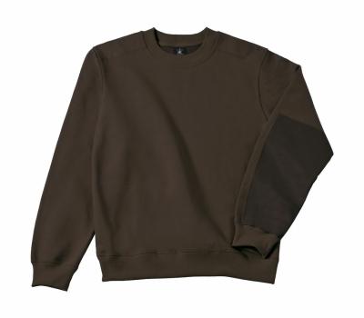 Arbeits Sweatshirt bis Gr.4XL / B&C Hero Pro WUC20 M Brown