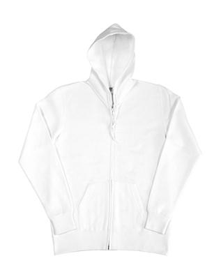 Damen Zip Hood Sweatjacke bis Gr.2XL / SG29F S White