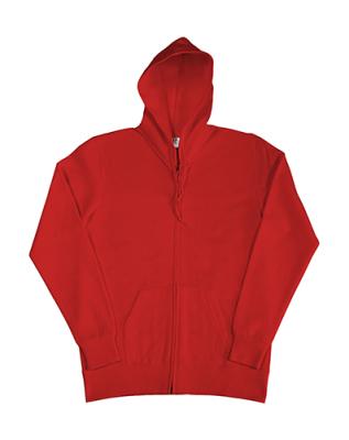 Damen Zip Hood Sweatjacke bis Gr.2XL / SG29F S Red
