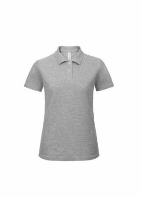 Damen Polo Shirt bis Gr.3XL B&C PWI11 XS Heather Grey