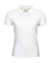Ladies Heavy Polo Piqué Kurzarm bis Gr.3XL / Teejays 1401 S White