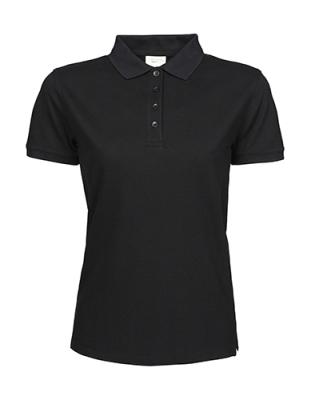 Ladies Heavy Polo Piqué Kurzarm bis Gr.3XL / Teejays 1401 S Black