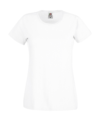 Original T Lady-Fit bis Gr.2XL / Fruit of the Loom 61-420-0 XS White
