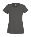 Original T Lady-Fit bis Gr.2XL / Fruit of the Loom 61-420-0 S Light Graphite