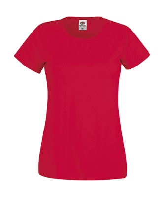Original T Lady-Fit bis Gr.2XL / Fruit of the Loom 61-420-0 S Red