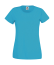 Original T Lady-Fit bis Gr.2XL / Fruit of the Loom 61-420-0 M Azure Blue