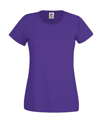 Original T Lady-Fit bis Gr.2XL / Fruit of the Loom 61-420-0 M Purple