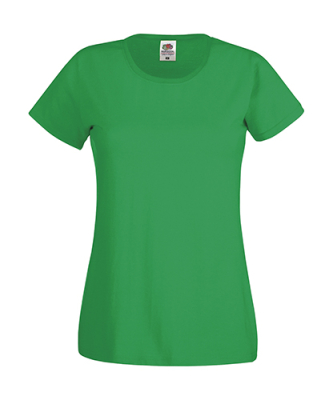 Original T Lady-Fit bis Gr.2XL / Fruit of the Loom 61-420-0 M Kelly Green