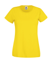 Original T Lady-Fit bis Gr.2XL / Fruit of the Loom 61-420-0 M Yellow