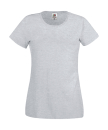 Original T Lady-Fit bis Gr.2XL / Fruit of the Loom 61-420-0 L Heather Grey
