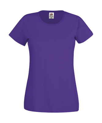 Original T Lady-Fit bis Gr.2XL / Fruit of the Loom 61-420-0 L Purple