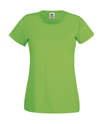 Original T Lady-Fit bis Gr.2XL / Fruit of the Loom 61-420-0 L Lime Green