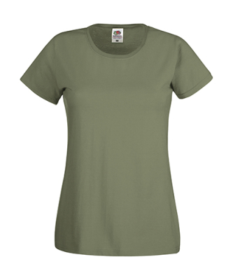 Original T Lady-Fit bis Gr.2XL / Fruit of the Loom 61-420-0 L Classic Olive