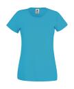 Original T Lady-Fit bis Gr.2XL / Fruit of the Loom 61-420-0 XL Azure Blue
