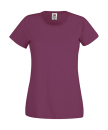 Original T Lady-Fit bis Gr.2XL / Fruit of the Loom 61-420-0 XL Burgundy