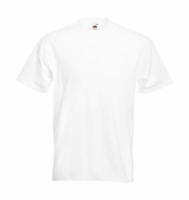 Herren Shirt Super Premium Tee bis Gr.5XL / Fruit of the Loom 61-044-0 5XL White