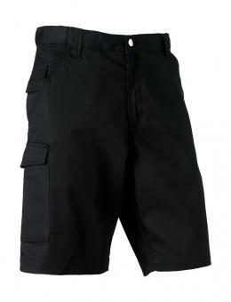"Twill Workwear Shorts Russell R-002M-0 30"" (76cm) Black"