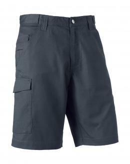 """Twill Workwear Shorts Russell R-002M-0 32"""" (81cm) Convoy Grey"""