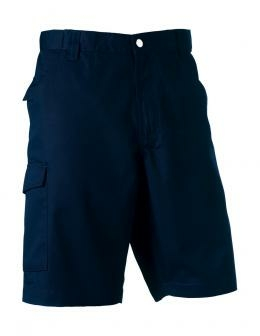 """Twill Workwear Shorts Russell R-002M-0 34"""" (86cm) French Navy"""