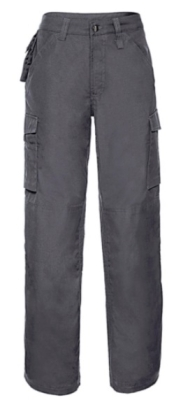 """Strapazierfähige Arbeits-Hose / Länge 32 / Russell 015M 28"""" (71cm) Convoy Grey"""