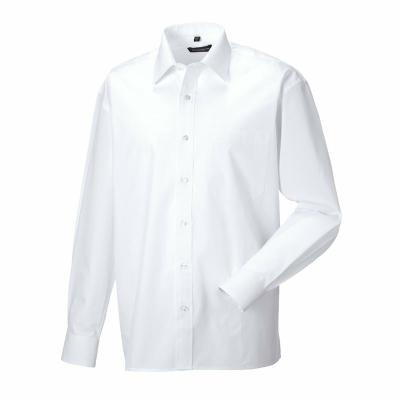 Herren Hemd LA / Russel 936M S (37-38cm) White